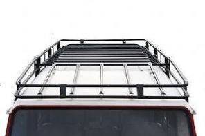 LAND ROVER DEFENDER 110 - UK MADE - Expedition Roof Rack LWB - Black Powder Coated